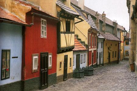 Прогулка по Злата уличке в Праге. 2