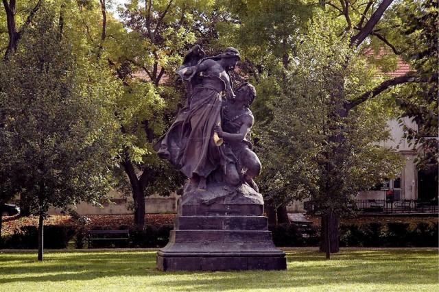 Скульптура «Цтирад и Шарка» (Sousoší Ctirad a Šárka) на Вышеграде