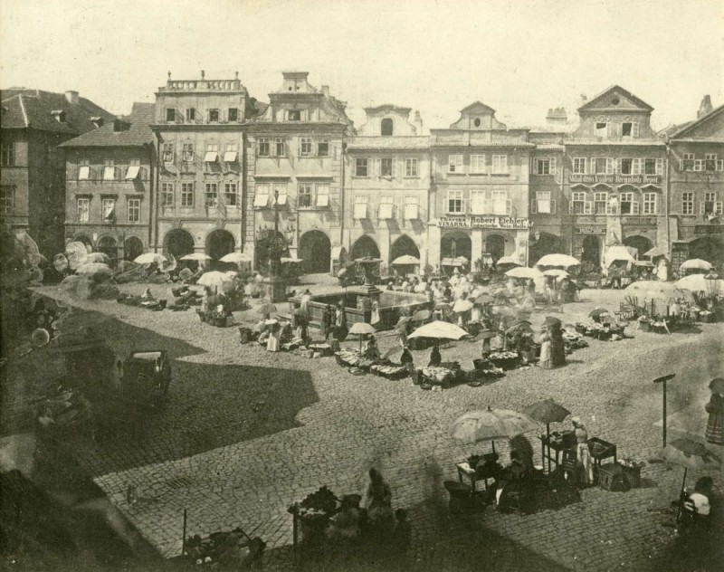 Площадь Угольный рынок (Uhelný trh), фото 1870 года