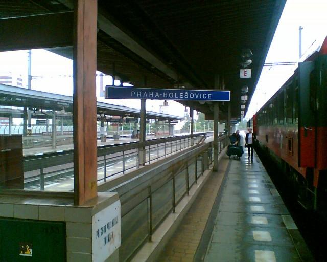 Железнодорожный вокзал Прага-Голешовице (Nadrazi Holešovice)