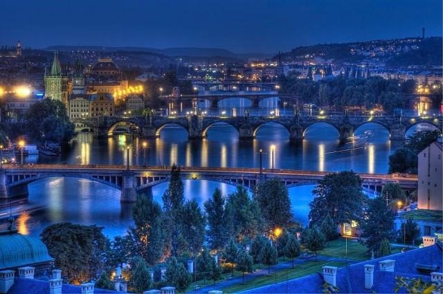 Чехов мост в Праге (Čechův most)