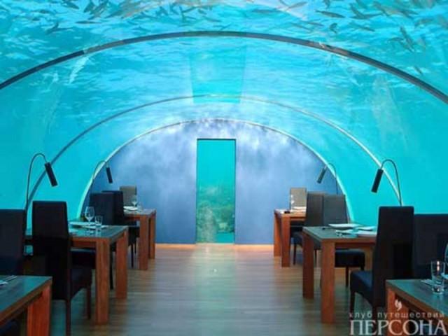 Подводный ресторан на острове Рангалифинолу