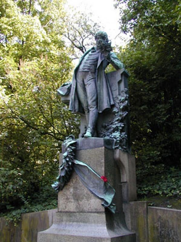 Памятник Карела Гинека Махи на Петршине