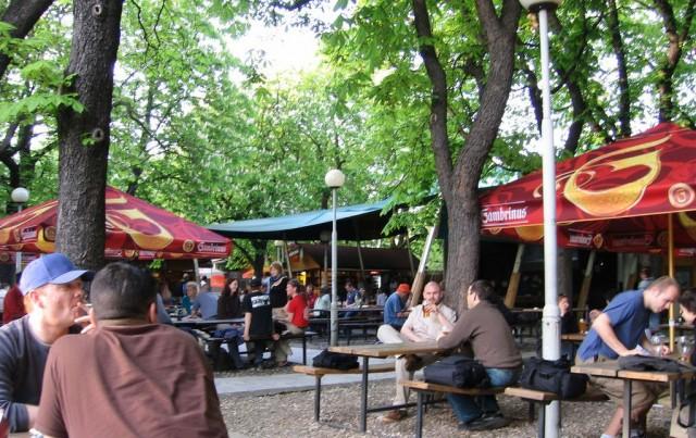 Риегровы сады - пивной сад (Beer Garden)