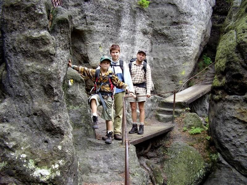 Туристическая тропа в Чешской Швейцарии