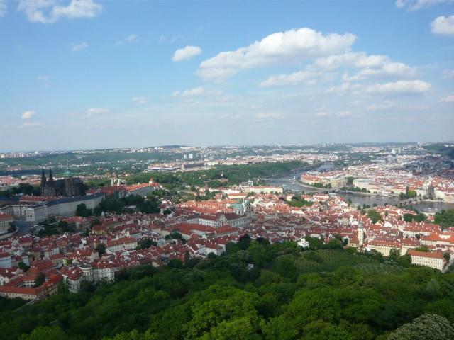 Прага. Вид с Петршинской башни