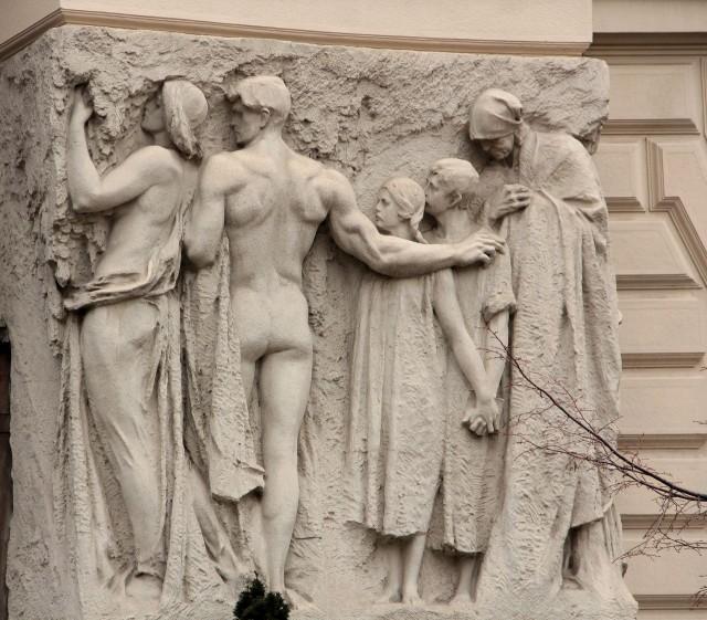 Скульптурная пластика Новой ратуши