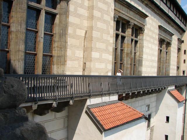 Смотровая галерея на южной стене Владиславского зала