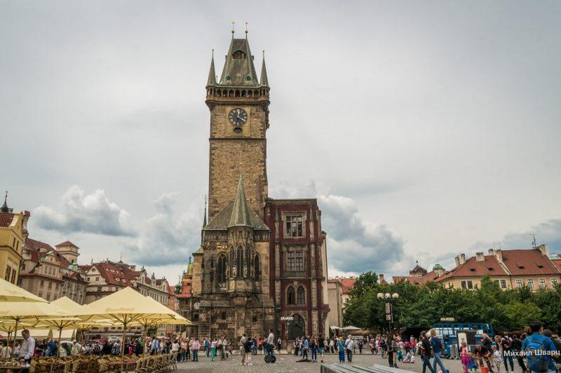 Вид на Ратушу со Староместской площади