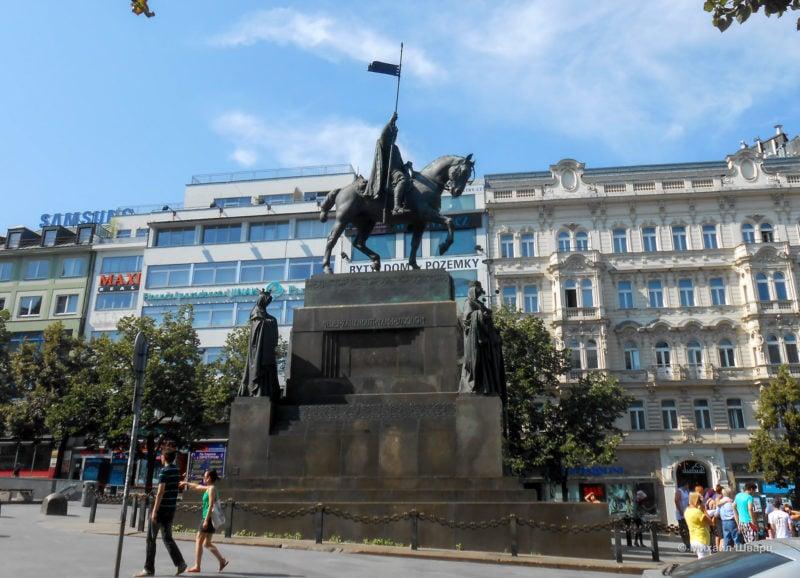 Памятник Святому Вацлаву на Вацлавской площади, автор Й. В. Мысльбек