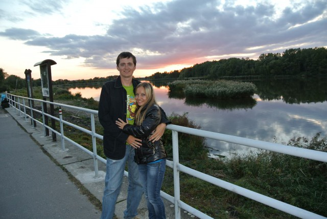 Закат в Южной Моравии