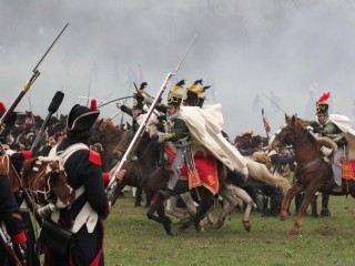 Реконструкция битвы под Аустерлицем. Военно-исторический спектакль.