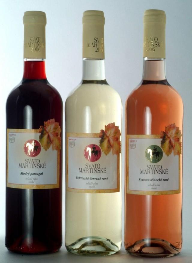 Молодые вина – «вина Святого Мартина» (Svatomartinské víno)