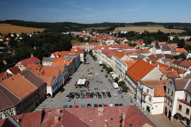 Главная площадь Славонице (Slavonice)