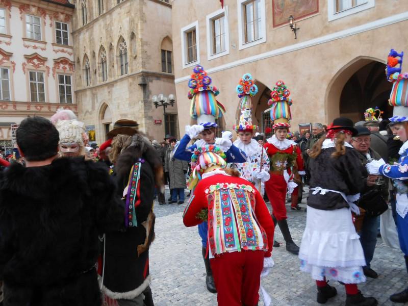 На зимнем Богемском карнавале в Праге