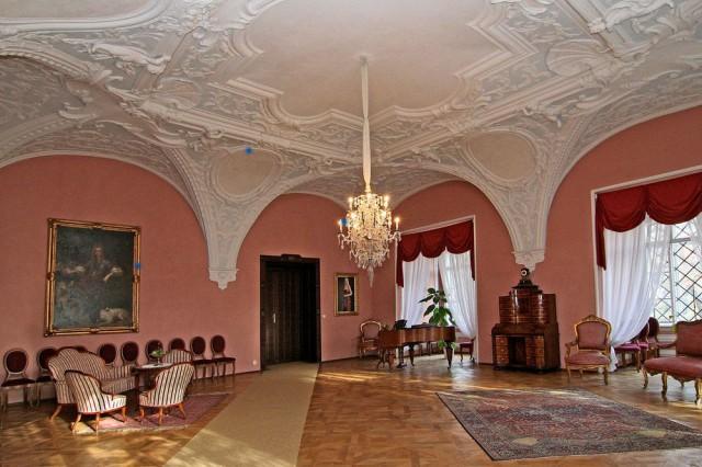 Замок Хише (Zámek Chyše), интерьер