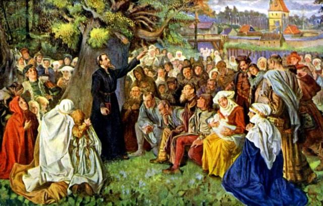 Проповедь Яна Гуса на na Kozím hrádku