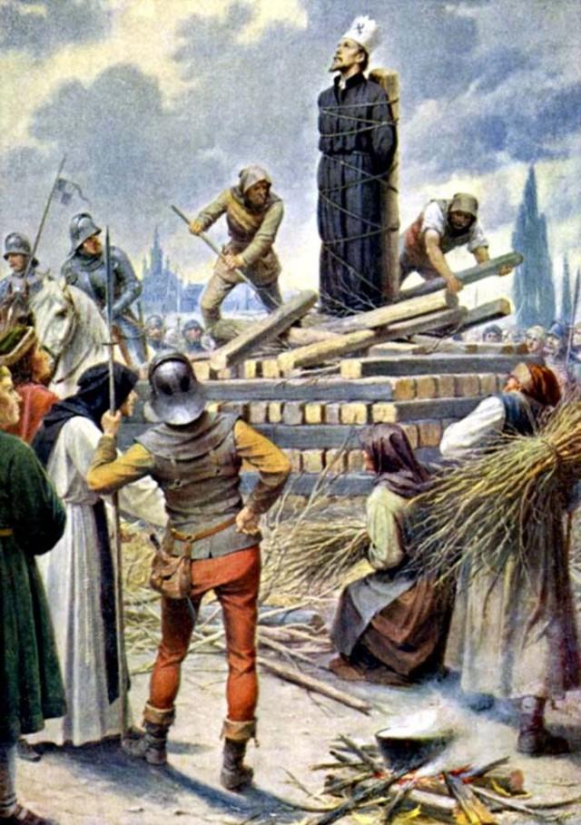 Сожжение Яна Гуса в Констанце (1415г.)