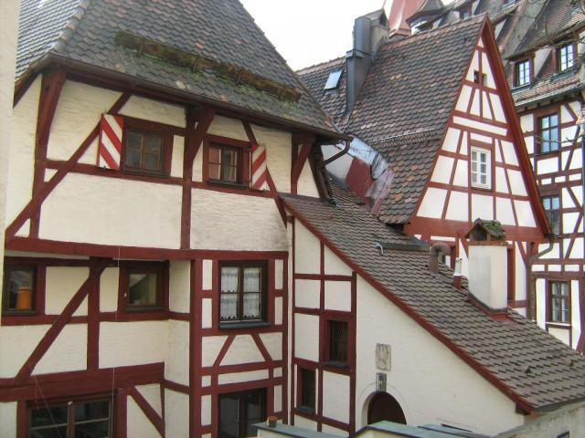 Самый старый фахверковый дом Нюрнберга