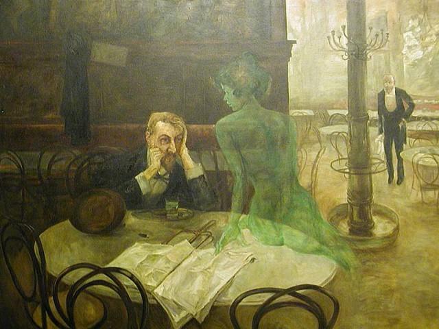 Виктор Олива: «Пьющий абсент», 1901