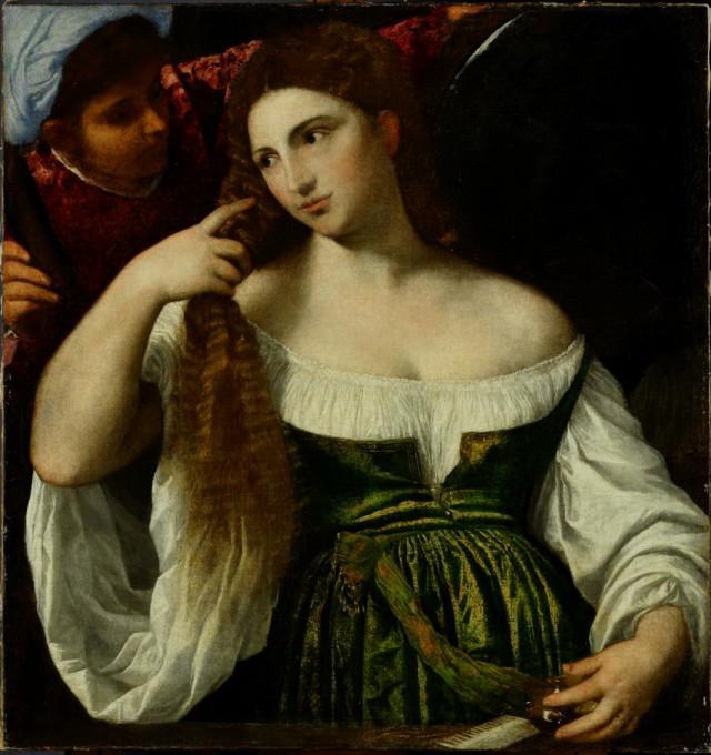 Туалет молодой женщины,  Тициан