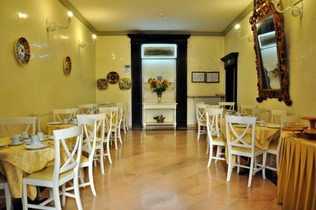 Зал для завтрака в гостинице во Флоренции