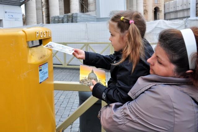 Почта Ватикана - отправляем открытки родителям