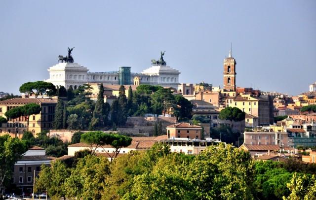 Вид на Рим с холма Авентин