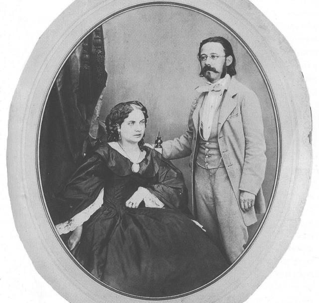 Бедржих Сметана с второй женой