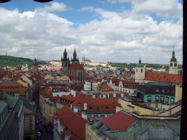 Прага. Вид с Пороховой башни.