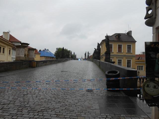 Карлов мост закрыт, Прага 03.06.13