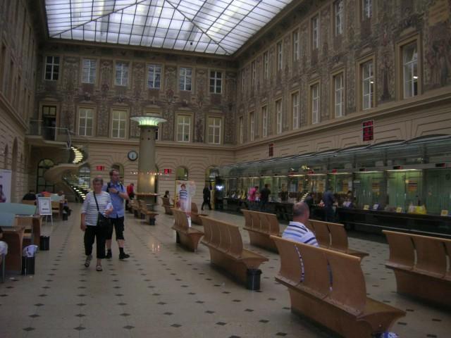 Внутренний интерьер Пражского Главпочтамта