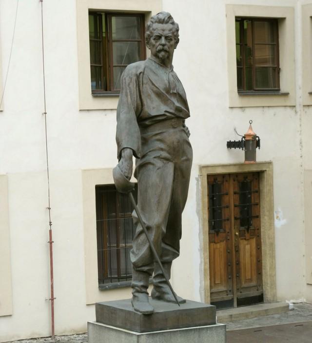 Памятник основателю общества Sokol – М. Тырши