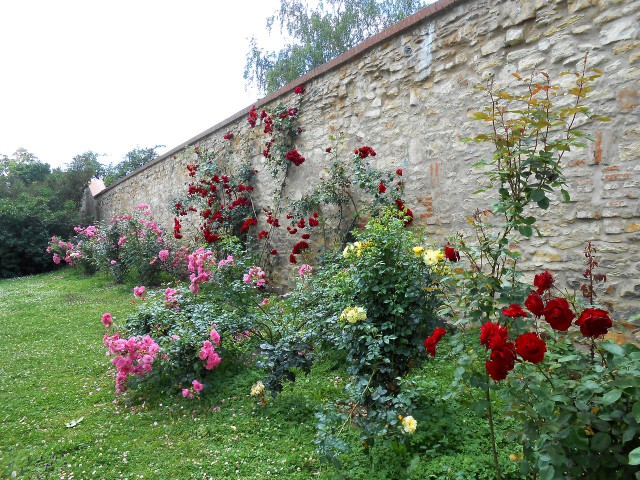 Сад ограничивает барочная стена