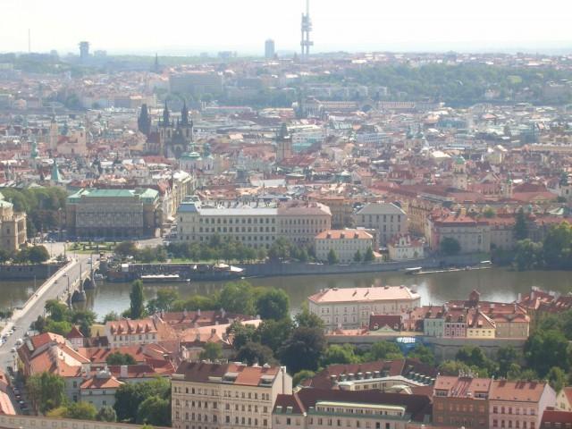 Панорама Праги – вид на Старый Город и Жижков