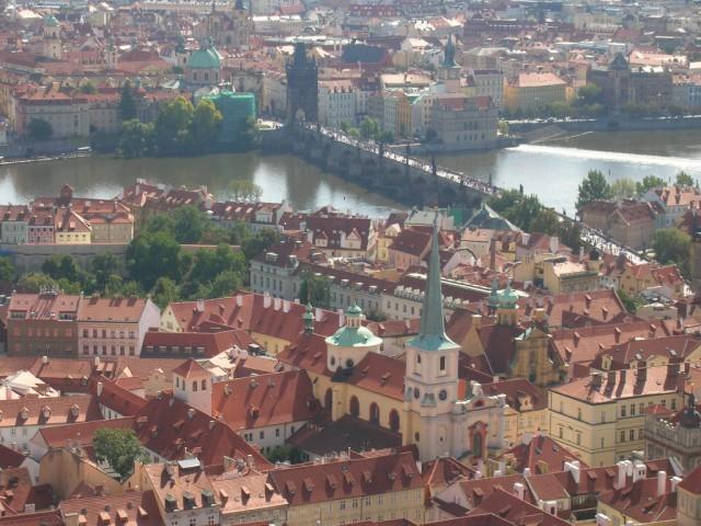 Панорама Праги – вид на Карлов мост