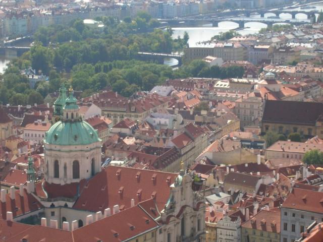 Панорама Праги – вид на Малую Страну и собор святого Микулаша