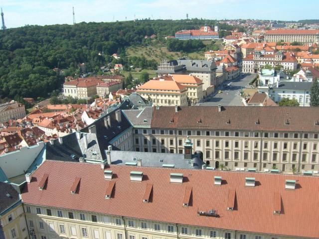 Панорама Праги – вид на Градчаны, Страговский монастырь и Петршин