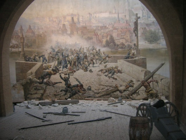 Диорама «Бой чехов со шведами на Карловом мосту в 1648 году»