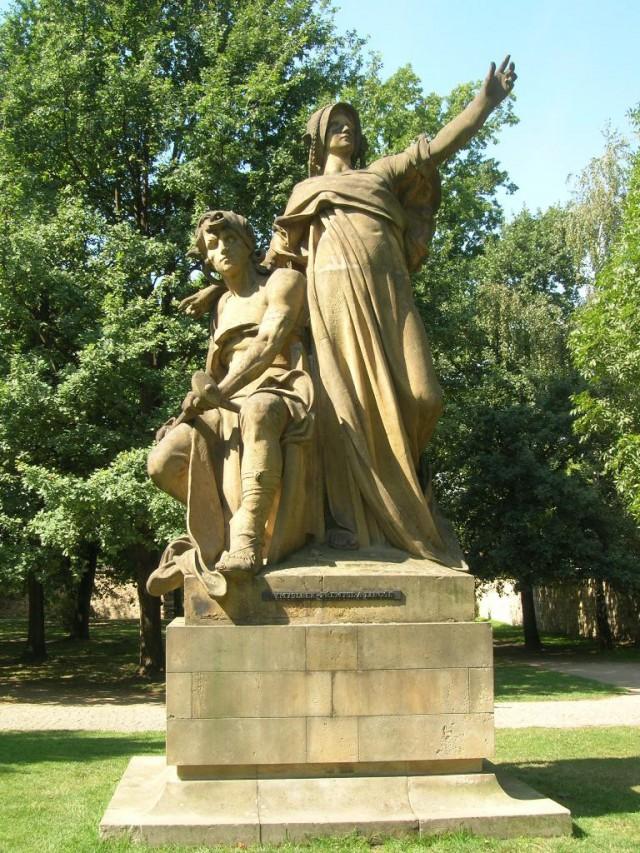 Скульптура «Княгиня Либуше и пахарь Пржемысл»