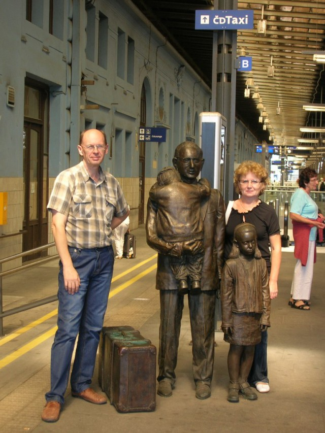 На перроне Главного железнодорожного вокзала Праги