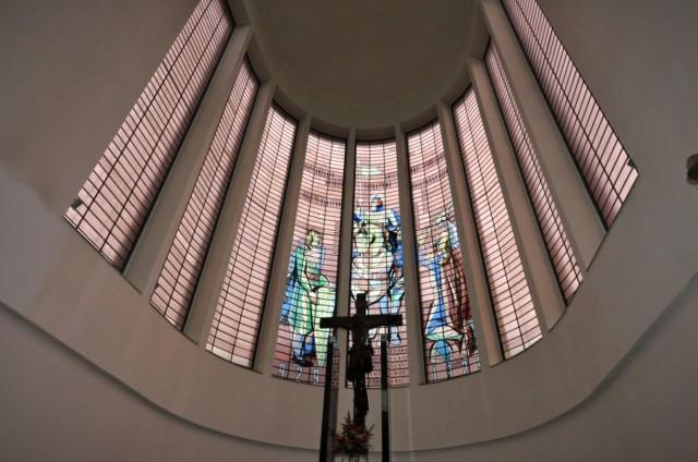 Витраж с  изображением  Святого Вацлава верхом на коне
