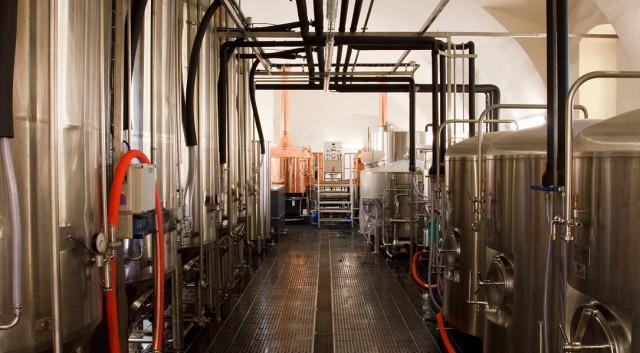 В пивоварне