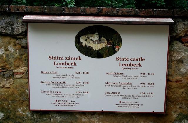 Замок Лемберк (Zámek Lemberk)