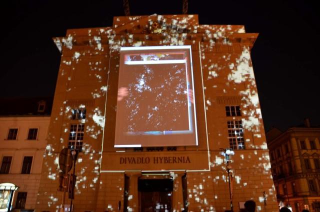 Световое представление на здании театра Гиберния (Hybernia)