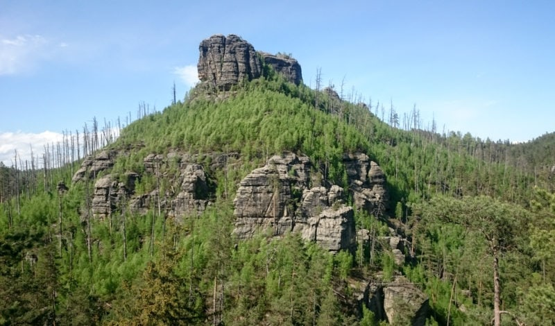 Скальный замок Фалкенштейн (skalní hrad Falkenštejn)