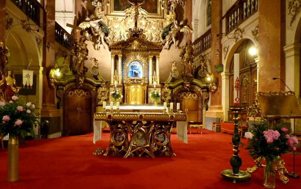 Интерьер костёла святого Якуба