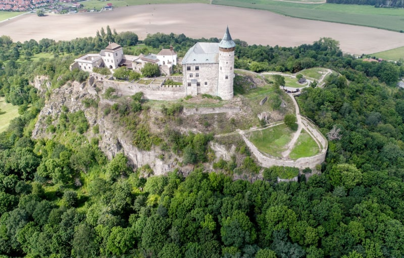 Замок с высоты
