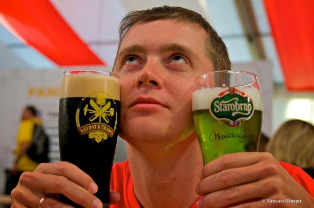 А я уже дегустирую зеленое пиво и темное