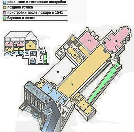 Схема Старого королевского дворца